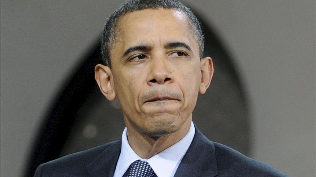 """El presidente de Estados Unidos, Barack Obama, aseguró hoy que paralizar las actividades administrativas del Gobierno por falta de fondos podría """"detener el impulso"""" de la recuperación tras la peor crisis económica del país en 80 años, y """"todo por cuestiones políticas"""". EFE"""