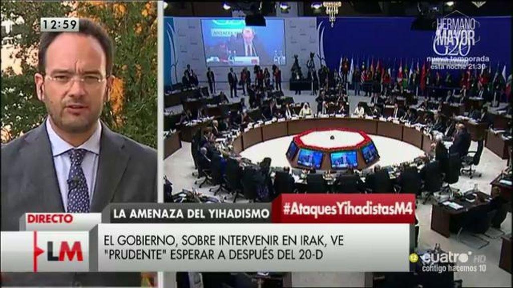 """A. Hernando: """"España no debe poner soldados sobre el terreno y nadie lo propone"""""""