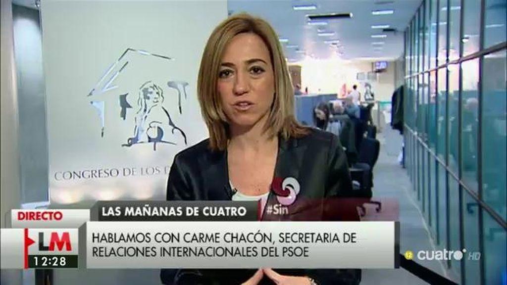 """Carme Chacón: """"Lo que no puede hacer Iglesias es volar los puentes de forma que acabe perpetuando a la derecha en el poder"""""""