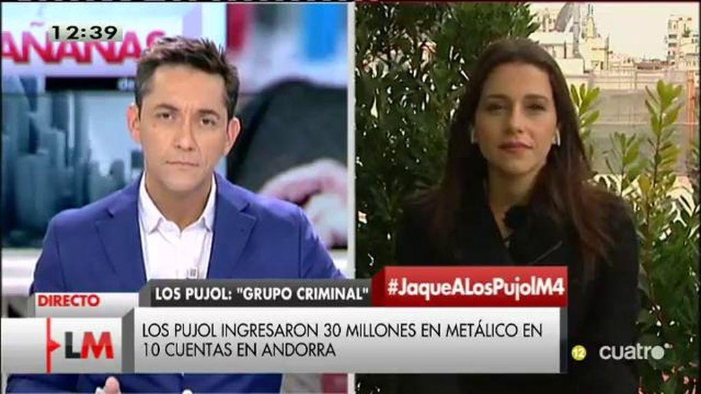 """Inés Arrimadas: """"Mas y Pujol decían que no eran independentistas y ahora son los más independentistas de Cataluña"""""""