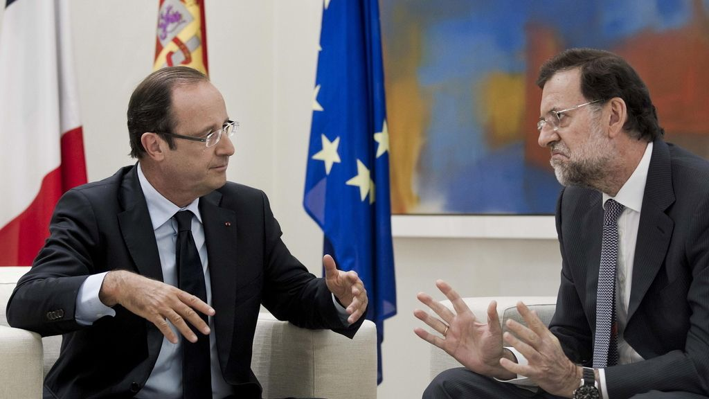 François Hollande y Mariano Rajoy en Moncloa