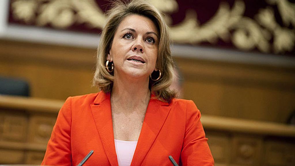 Maria Dolores de Cospedal en su toma de posesión como presidenta de Castilla la Mancha. Foto:EFE