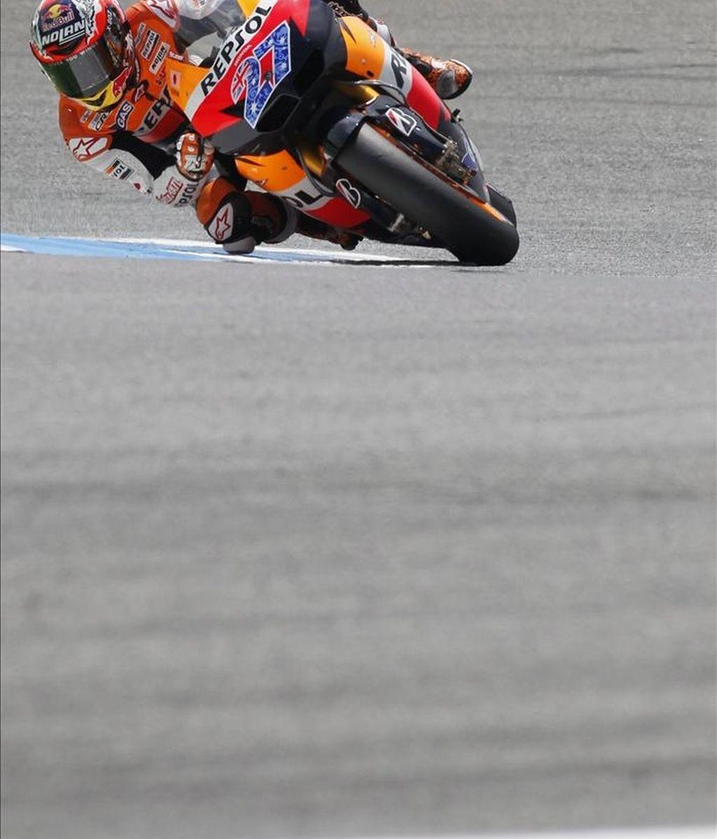 El piloto australiano de MotoGP de Repsol Honda, Casey Stoner. EFE/Archivo