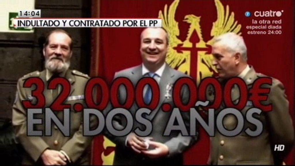Defensa contrata a la empresa de un indultado por 16 millones anuales