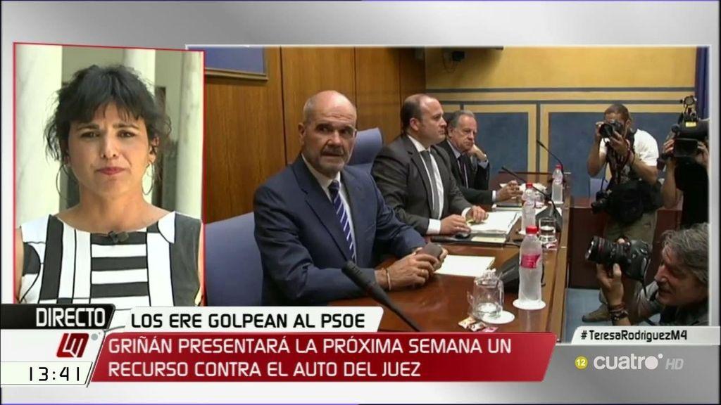 """T. Rodríguez: """"Se ha generado un río revuelto en el que los pescadores vinculados al PSOE en Andalucía no han dudado en pescar"""""""