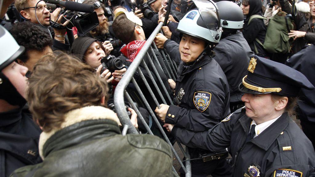 Marcha contra la Bolsa de Nueva York