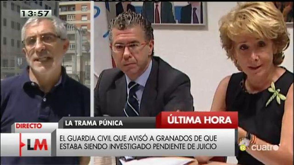 """Llamazares: """"Aguirre está inhabilitada para continuar al frente del partido en Madrid"""""""