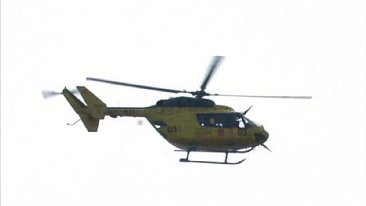 En la imagen, un helicóptero de salvamento en Girona. EFE/Archivo