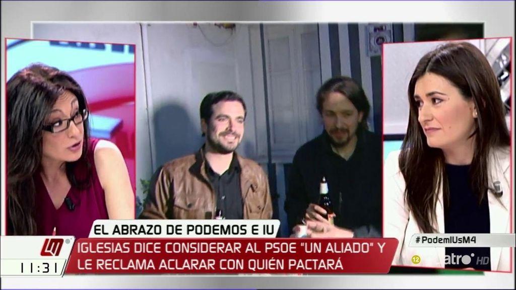 """Carmen Montón, sobre el acuerdo de IU-Podemos: """"El 'programa, programa' se ha convertido en 'sillones, sillones"""""""