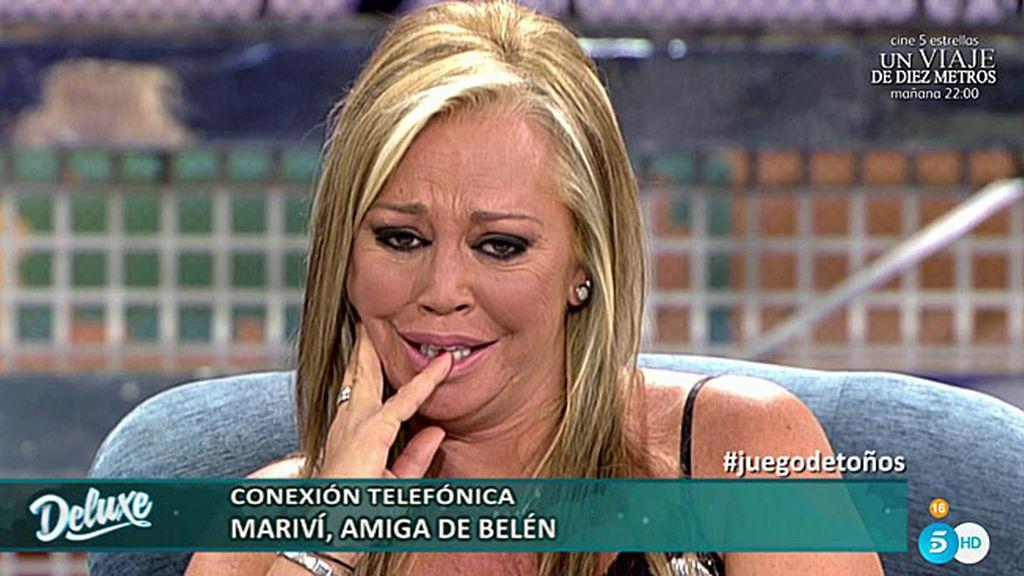 """Belén Esteban, rota, a Mariví: """"Tú me has ayudado en mis perores momentos"""""""