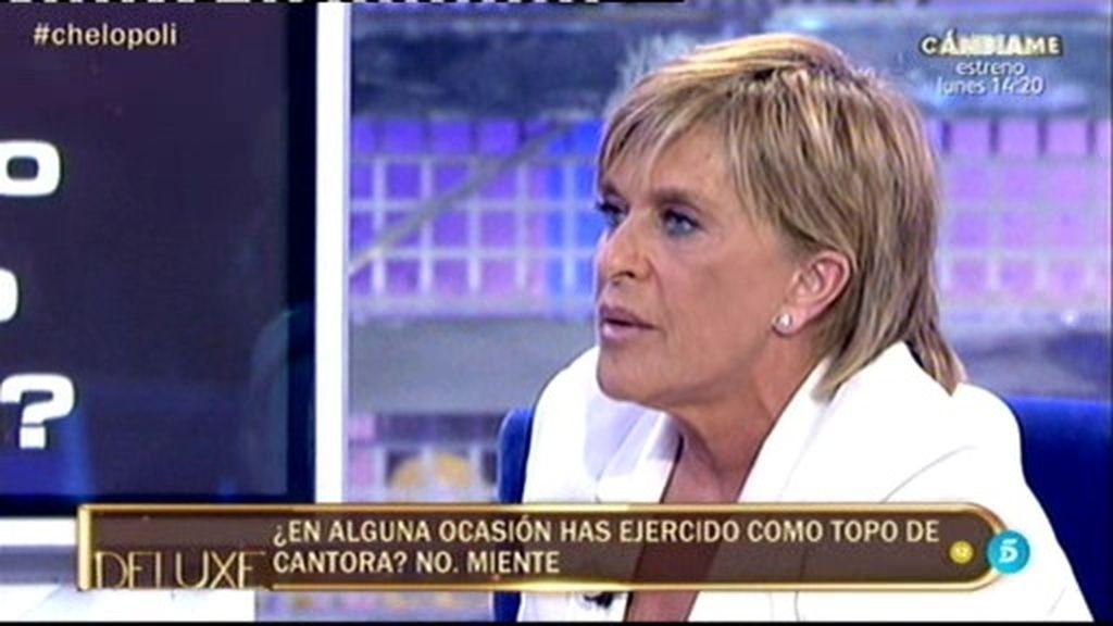 El 'Poli' lo confirma: ¡Chelo García Cortés ha sido 'topo' de Cantora!