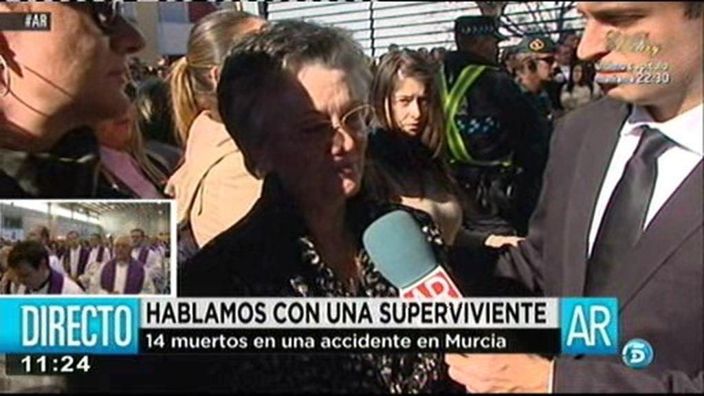 """Ana María, herida en el accidente de autobús: """"Nunca olvidaré lo que vi"""""""