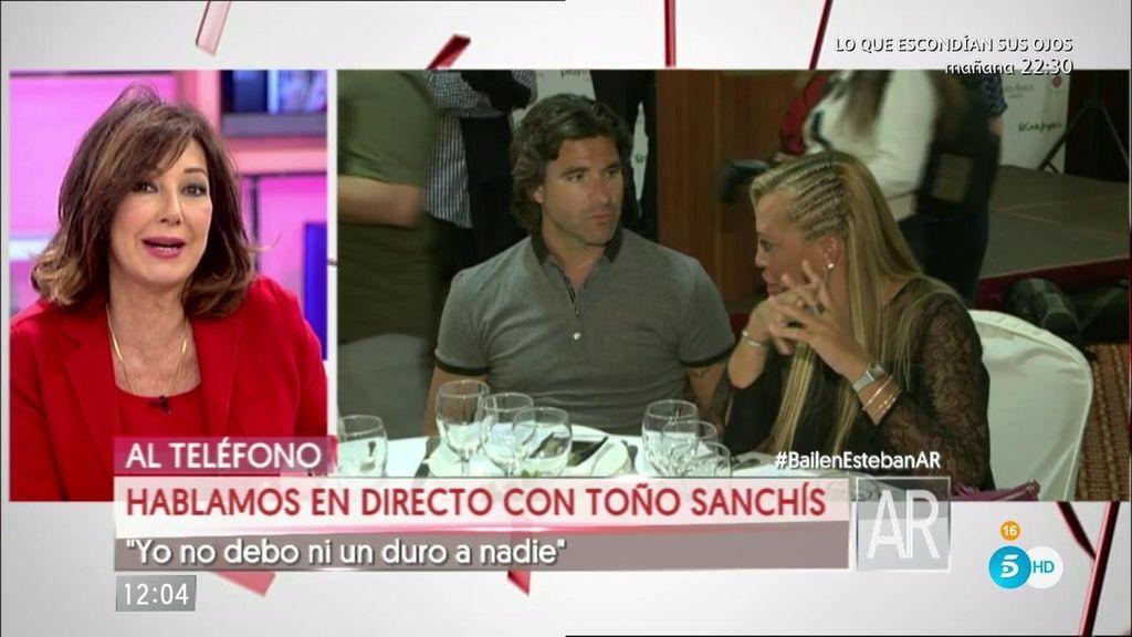 """Toño Sanchís se defiende: """"No le debo un duro a nadie"""""""