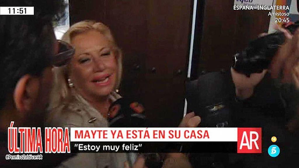 """Mayte Zaldívar: """"Vuelvo a casa, estoy muy feliz y muy contenta"""""""