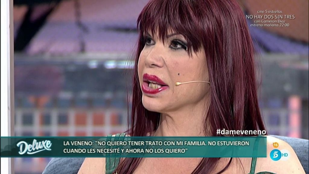 """La Veneno: """"Mi madre me maltrataba y ahora se avergüenza de mí, no tenemos relación"""""""