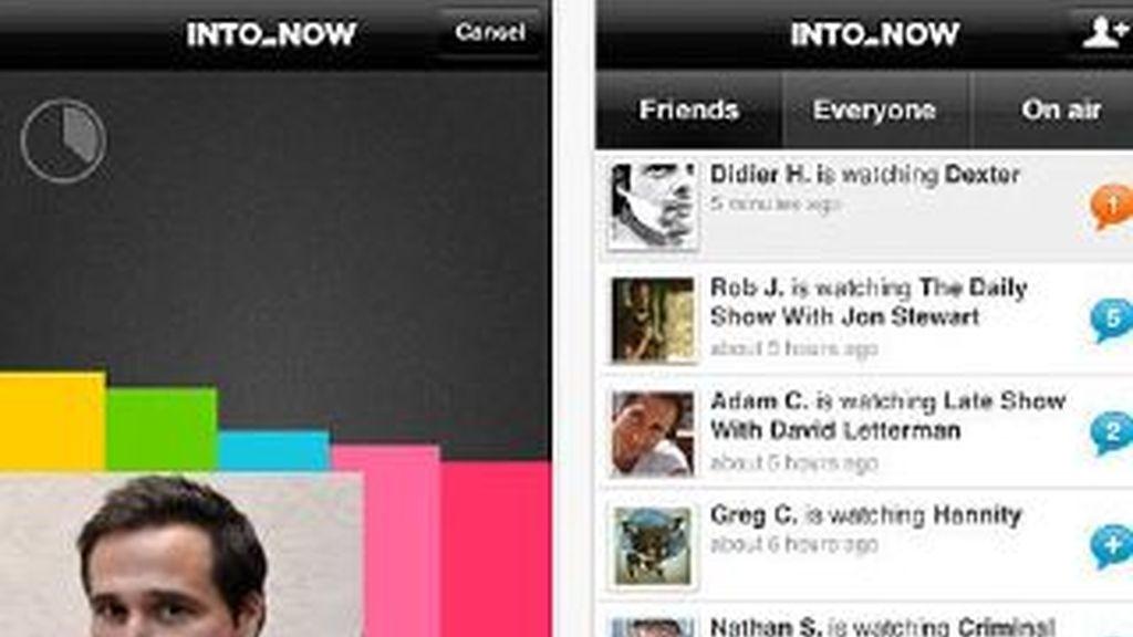 Cahan, a la izquierda. De fondo, la aplicación que lo ha vuelto millonario.