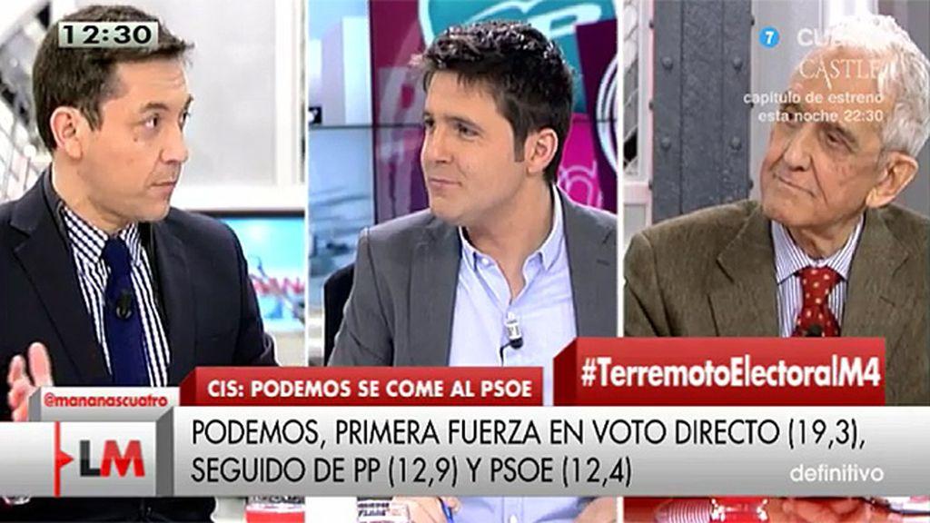 """J. Ruiz: """"PSOE, Podemos e IU son la única opción de gobierno"""""""