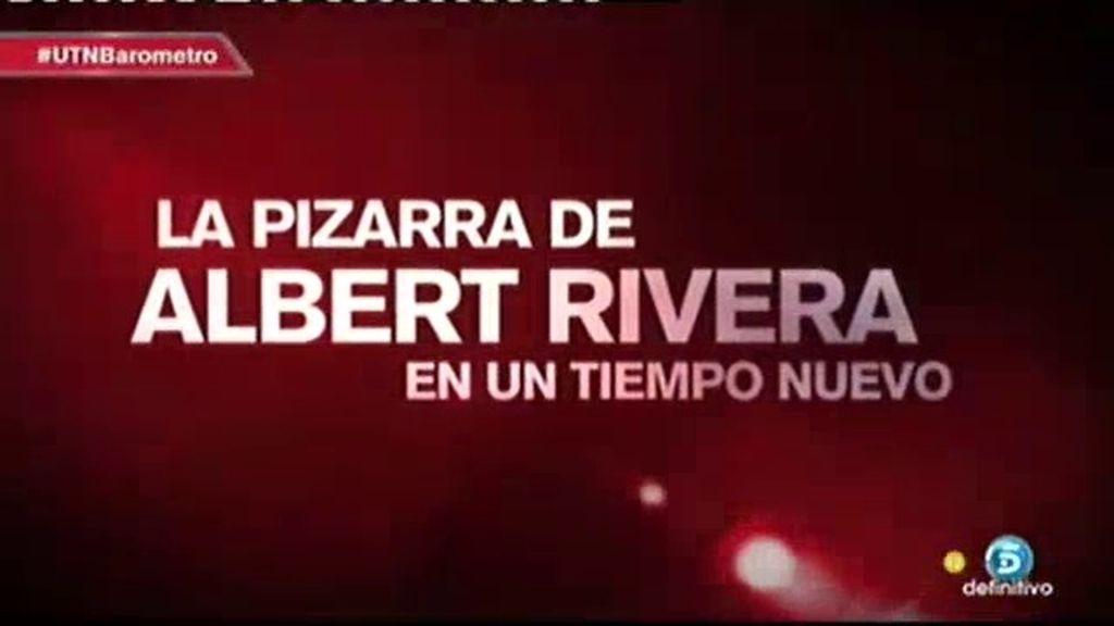 'La pizarra de Albert Rivera', la próxima semana en 'Un tiempo nuevo'