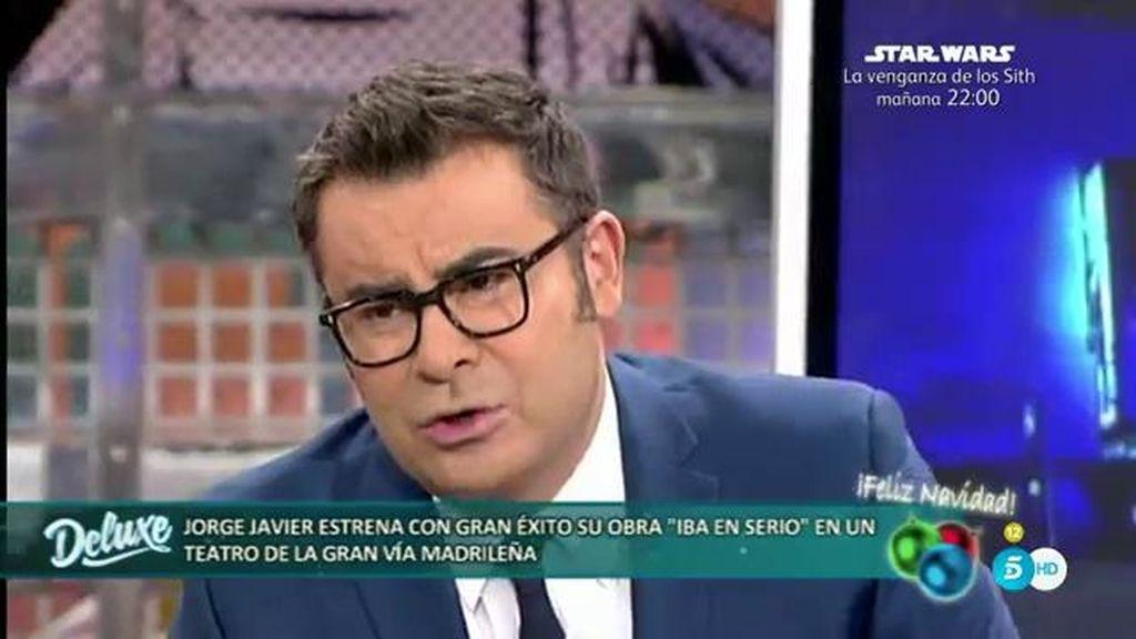 """Jorge Javier Vázquez, tras el estreno de su obra: """"En el teatro no me da vergüenza cantar"""""""