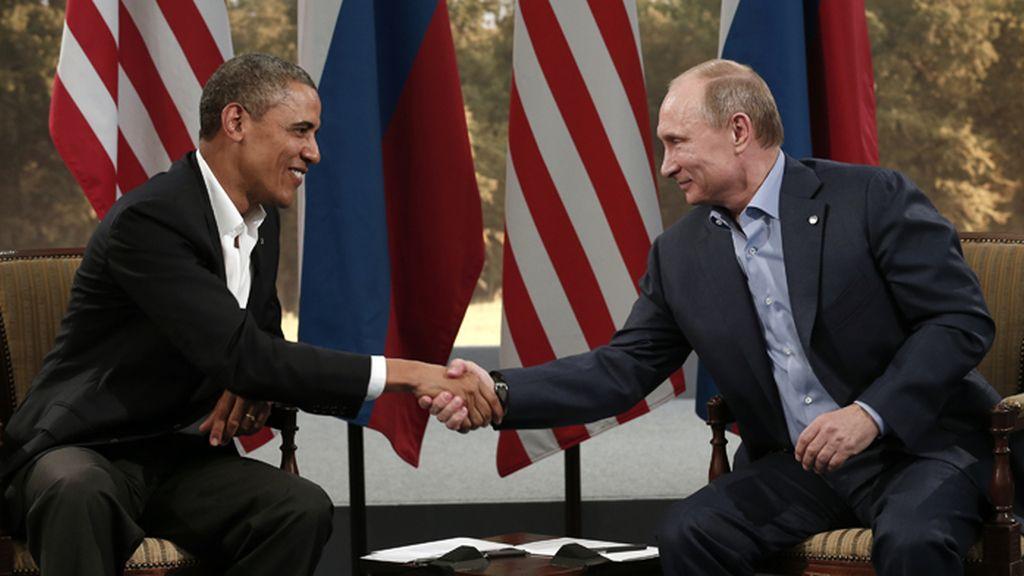 Obama y Putin abordan la crisis siria en su reunión durante el G8