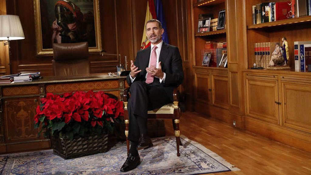 El rey Felipe VI pronuncia el tradicional discurso de Navidad