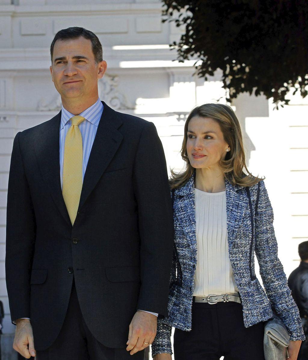 Los príncipes de Asturias, durante el acto de conmemoración del quinto centenario del Hospital General de Valencia