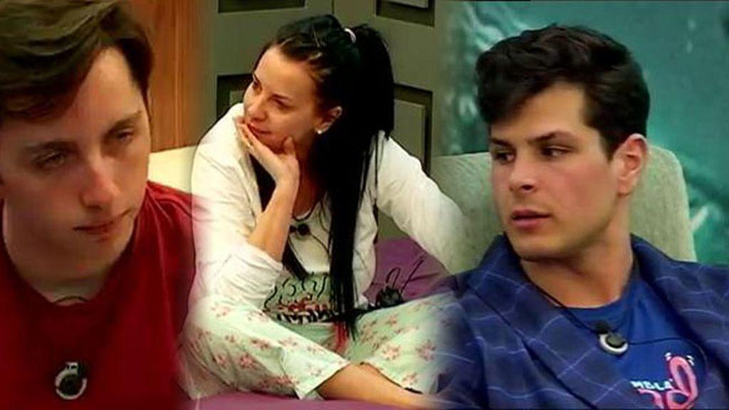 Fran Nicolás y Laura Campos comparten confidencias ante los recelos de Alejandro