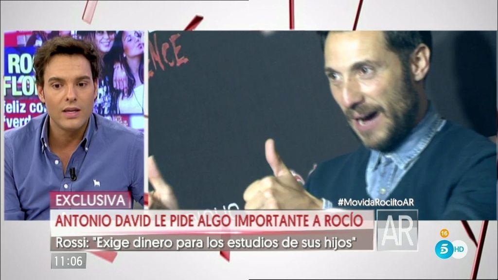 Antonio David ha exigido dinero a Rocío por la manutención de sus hijos