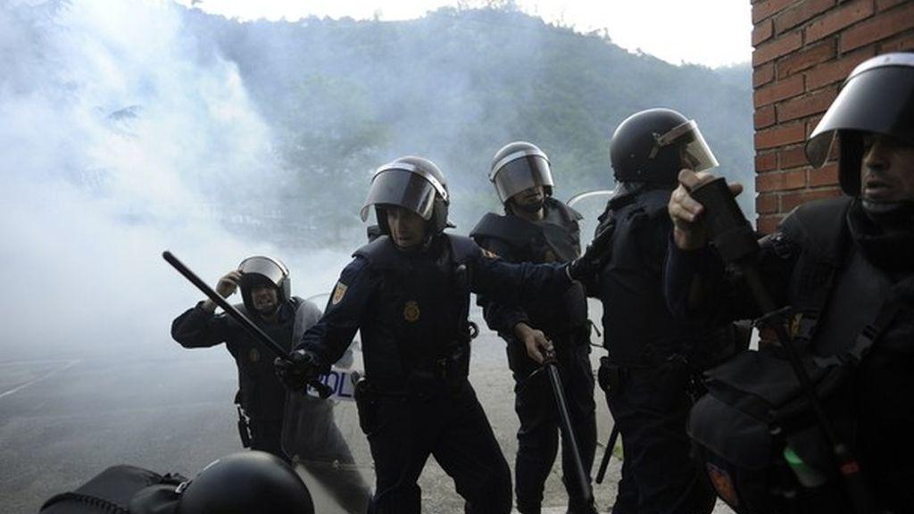 La protesta de los mineros