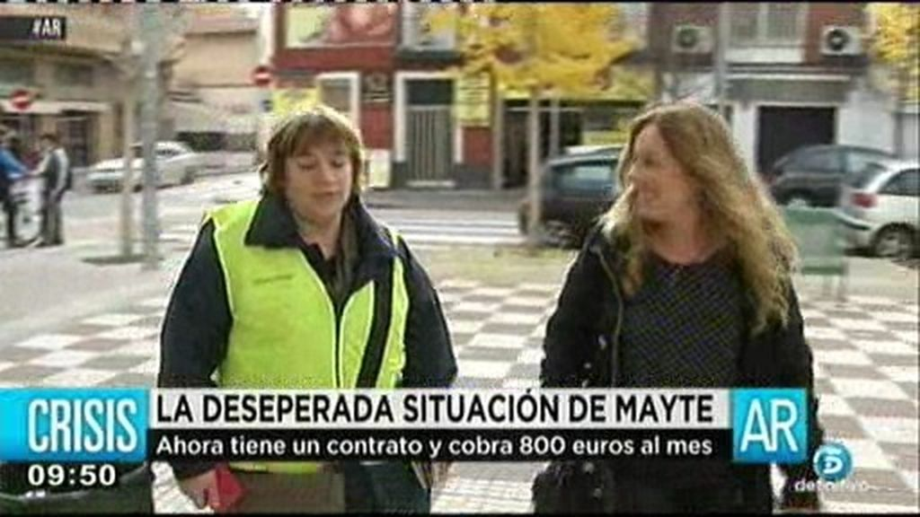 La desesperada situación de Mayte: tiene cinco hijos y la han desahuciado dos veces