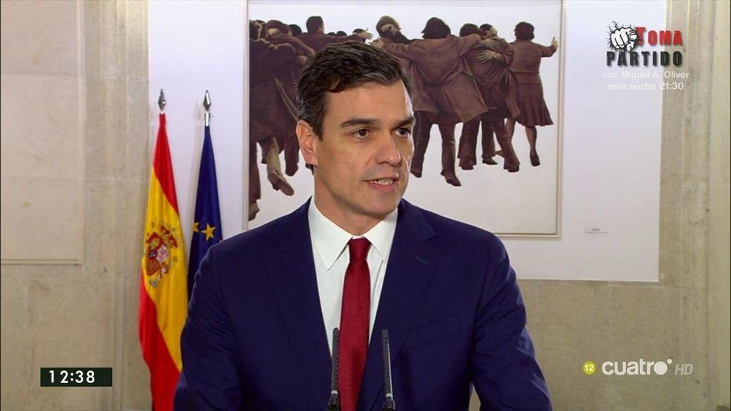 """Pedro Sánchez, tras acuerdo firmado con Rivera: """"Hay voluntad de acuerdo cuando hay voluntad de cambio"""""""