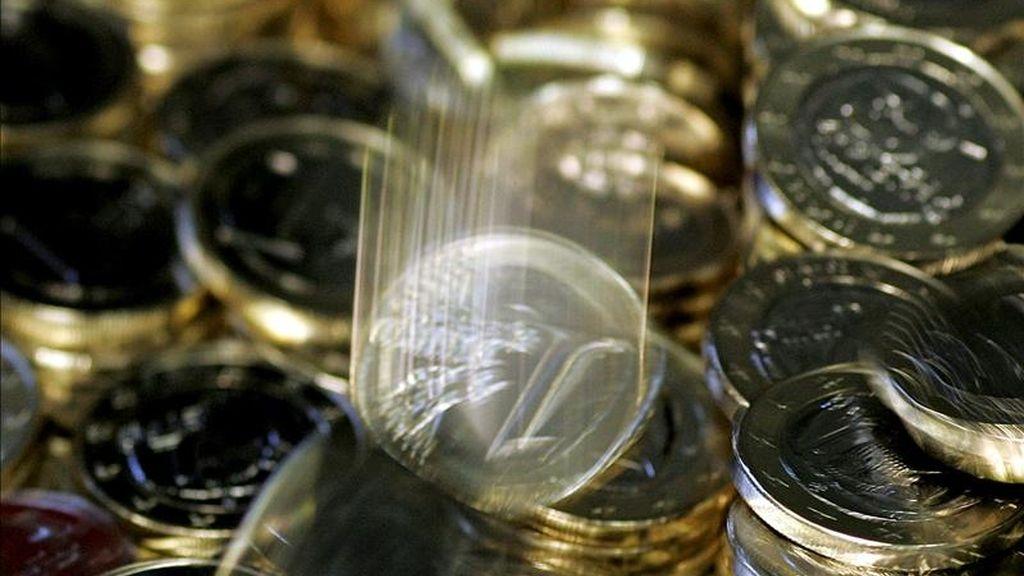 Monedas de un euro en la Casa de la Moneda. EFE/Archivo