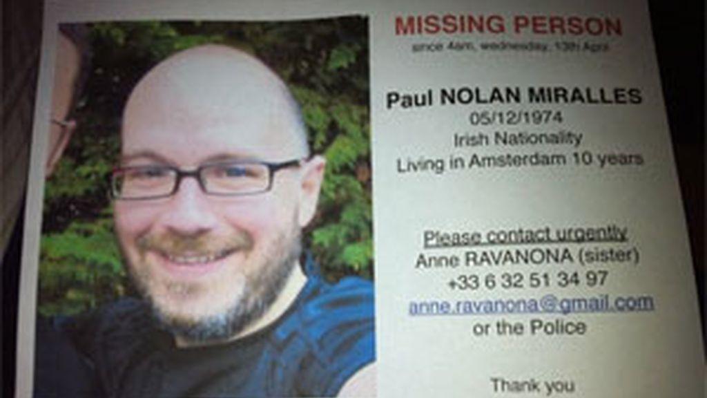 Paul Nolan desapareció en Amsterdam el 12 de abril de 2011