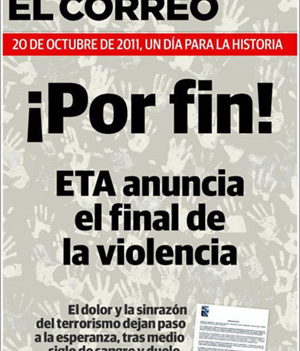 El fin de ETA en la prensa