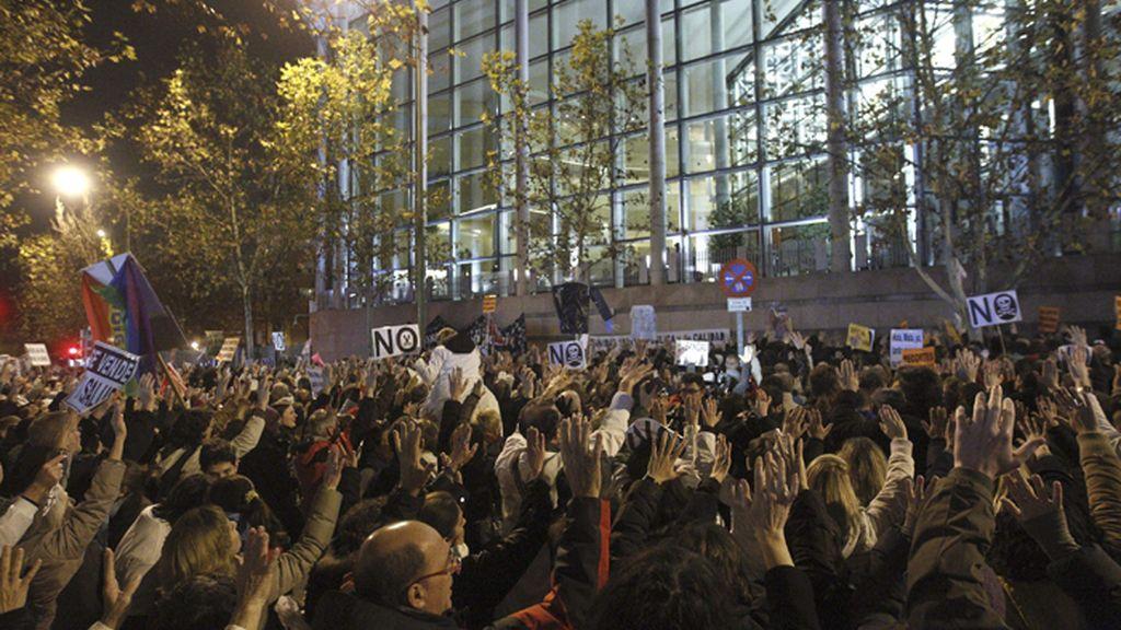 Manifestación en Madrid contra las medidas sanitarias privatizadoras