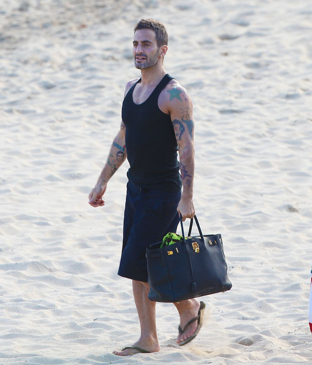Marc Jacobs, en la playa.