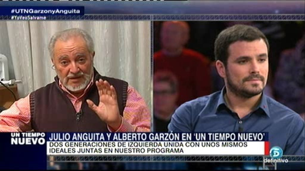 """Julio Anguita: """"Mi candidato para las primarias del próximo mayo es A. Garzón"""""""