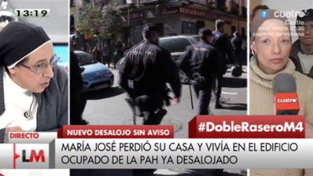 "Mª José: ""Nos desahuciaron fue sin previo aviso"""