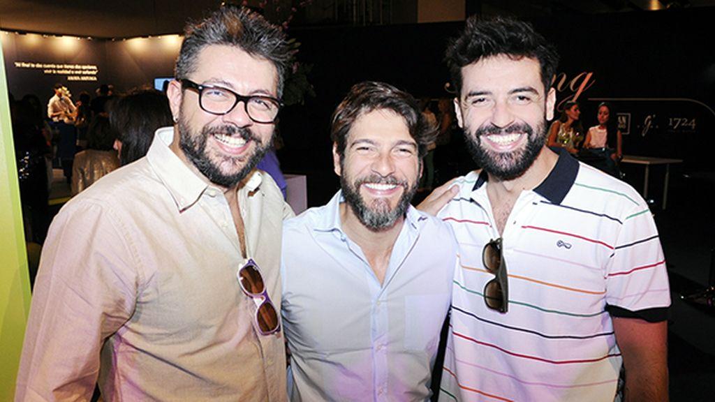 Jorge y Jaime, de Lucas Peluqueros, junto al actor Félix Gómez