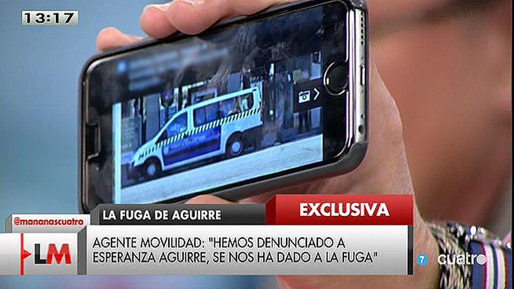 """M. Miralles: """"Agentes de movilidad aparcados en un carril bus sacando dinero del cajero"""""""