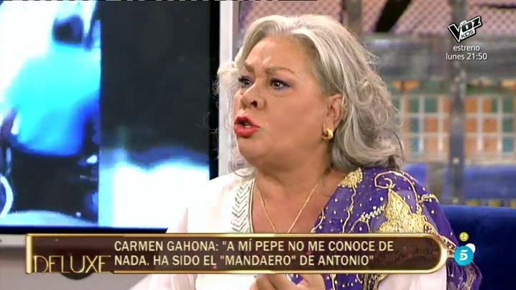"""Carmen Gahona: """"Si me vuelvo a encontrar a Pepe y me provoca, no respondo"""""""