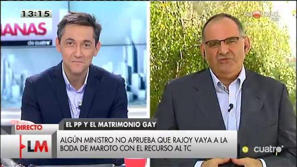 """Antón Losada: """"¿Es una boda gay un entorno Mariano - friendly? ¿Puede ir sin que eso tenga un coste?"""""""