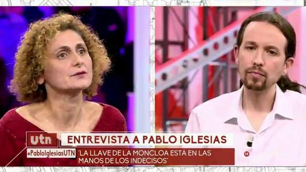 """Belén, psicóloga, a Pablo Iglesias: """"Nos preocupa el futuro de las mujeres maltratadas"""""""