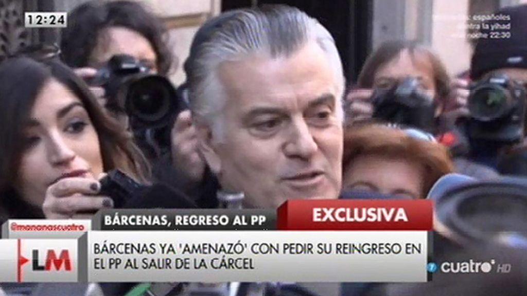 Exclusiva LM4: Luis Bárcenas pide formalmente su reingreso en el PP