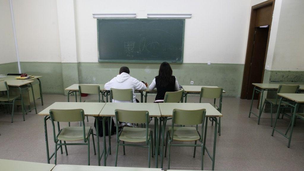 escuela, estudiantes, aula