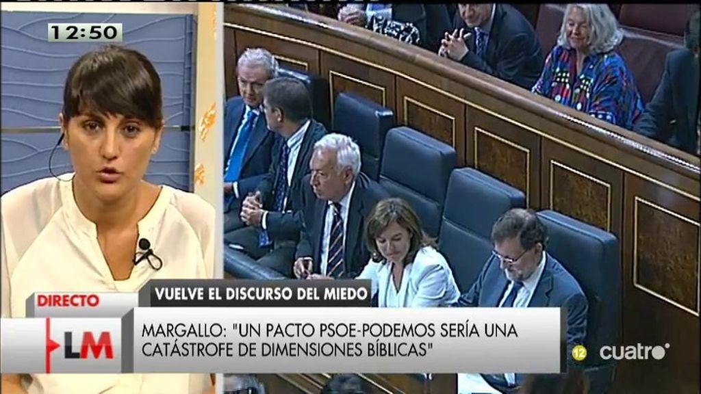 """María González (PSOE): """"El PP está nervioso porque los españoles quieren un cambio"""""""
