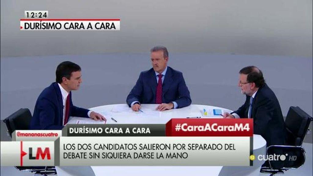 """Sánchez, a Rajoy: """"El presidente tiene que ser decente y usted no lo es""""; Rajoy: """"Su intervención ha sido ruin y mezquina"""""""