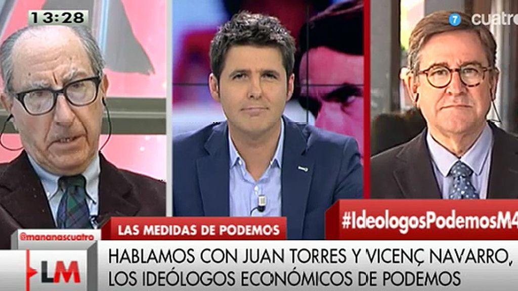 Los ideólogos económicos de Podemos, se defienden de quienes les llaman 'utópicos'