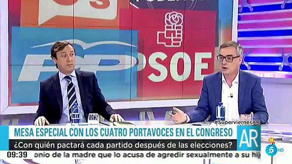 """El portavoz de ciudadanos: """"Solo tenemos incompatibilidad con Podemos"""""""