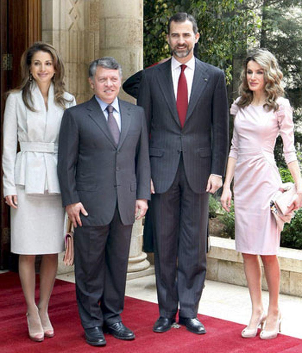 Con los Reyes de Jordania